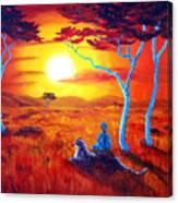 African Sunset Meditation Canvas Print