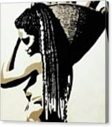African Woman With Basket Canvas Print