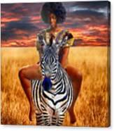 Afrikkan Princess  Canvas Print