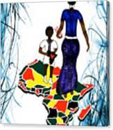 Afrique Walk Canvas Print