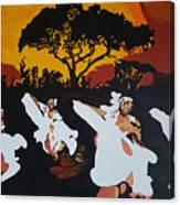 Afro Carib Dance Canvas Print