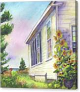 After School Activities At Monhegan School House Canvas Print