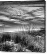 After Sunset In B And W Canvas Print