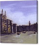 After The Grand Canal From Campo San Vio Near The Rialto Bridge Canvas Print