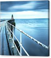 After The Shower Over Whitby Pier Canvas Print