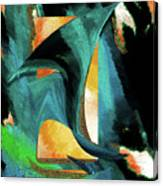 After The War Abstract Canvas Print