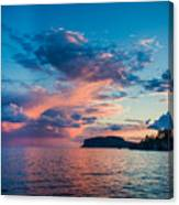 Afterglow On The Lakeshore Canvas Print