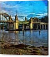 Afternoon At Siuslaw River Bridge Canvas Print