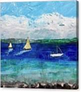Afternoon At The Lake Canvas Print