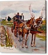 Afternoon Coachride Canvas Print