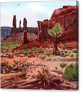 Afternoon In Monument Valley Canvas Print