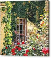 Afternoon In The Rose Garden Canvas Print