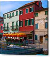 Afternoon Stroll In Murano  Canvas Print