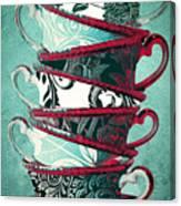 Afternoon Tea Aqua Canvas Print