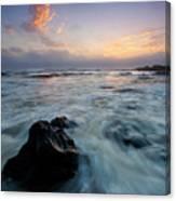 Against The Sea Canvas Print