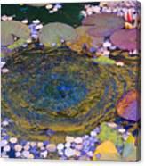 Agape Gardens Autumn Waterfeature Canvas Print