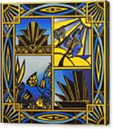 Art Deco In Blue Canvas Print