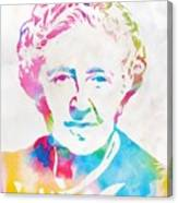 Agatha Christie Watercolor Tribute Canvas Print