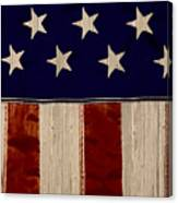 Aged Rustic American Flag Canvas Print