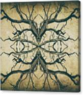 Aged Sepia Tree Dual Canvas Print