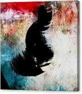 Aged Silhouette Canvas Print