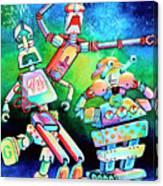 Aghast Agape And Agog Canvas Print