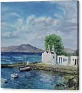 Agios Ioannis Beach, Mykonos Greece Canvas Print