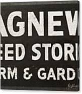 Agnew Seeds Roanoke Virginia Canvas Print