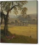 A_golden_summer_day_near_oakland Canvas Print