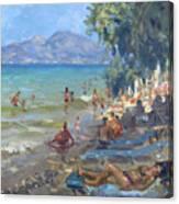 Agrilesa Beach Athens  Canvas Print