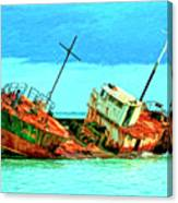Aground Off Jamaica Canvas Print