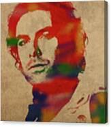 Aidan Turner As Poldark Watercolor Portrait Canvas Print