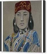 Ainu Woman -- Portrait Of Ethnic Asian Woman Canvas Print