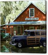 Air Brushed Woody At Country Store Canvas Print
