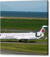 Air Canada Express Crj Taxis Into The Terminal Canvas Print