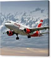 Air Canada Rouge Airbus A319 Canvas Print