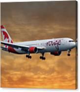 Air Canada Rouge Boeing 767-333 2 Canvas Print