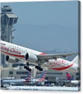 Air China Boeing 777-39ler B-2035 Smiling China Los Angeles International Airport May 3 2016 Canvas Print