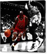 Air Jordan On Shaq Canvas Print
