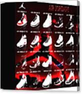 Air Jordan Shoe Gallery II Canvas Print