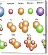 Air Molecules Canvas Print