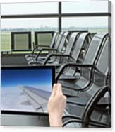 Air Travel Concept Canvas Print