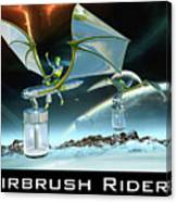 Airbrush Riders Canvas Print