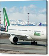 Airbus A330 Alitalia With New Livery  Canvas Print