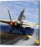 aircraft military F 18 Hornet Canvas Print