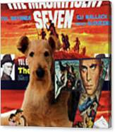 Airedale Terrier Art Canvas Print - The Magnificent Seven Movie Poster Canvas Print