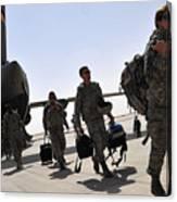Airmen Arrive In Iraq In Support Canvas Print