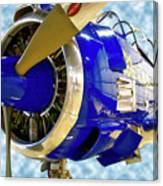 Airplane Propeller And Engine T28 Trojan 02 Canvas Print