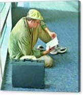 Airport Wait Canvas Print