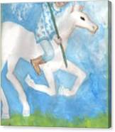 Airy Knight Of Wands Canvas Print